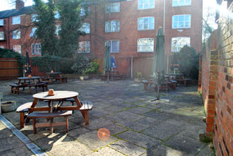 A photo of the patio area at Salisbury Conservative Club